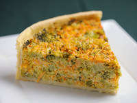 Tarta de zanahoria y brócoli