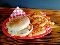Combo hamburguesa de Pollo papas y soda