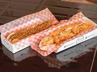Combo 3 - 2 hot dogs tipo alemanes con salsa a elección