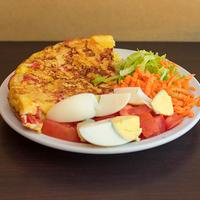 Tortilla española con ensalada mixta