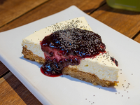 Cheesecake Raw de frutos rojos