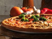 Pizza Súper Cuatro Quesos, Hawaiana y Napolitana