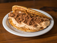 Waffle con chocotorta