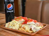 Promo - Chivito al plato (2 personas) + bebida grande