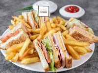 Club Sándwich Doble Bacon