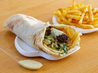 Shawarma de kafta con guarnición a elección