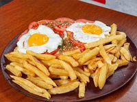 Combo - Super bondiola a la napolitana + papas fritas y huevos fritos