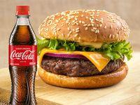 Hamburguesa Clásica + Coca-Cola 400ml