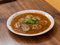 Sorrentinos de espinaca caseros con salsa margarita