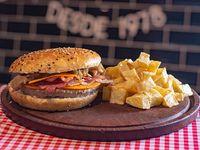 Combo barbacoa - Burger barbacoa + papas fritas