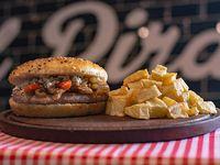 Combo  - Burger corazón azul + papas fritas