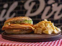 Combo milanesa pirata - Sándwich de milanesa + papas fritas