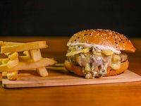 Burger Four Cheese