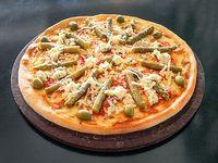 Pizza con espárragos