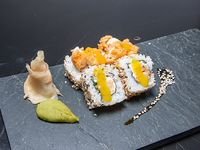 Seiji roll - Langostino tempurizado, queso philadephia y verdeo