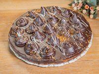 Tarta copetona de dulce de leche con chocolate Mediana