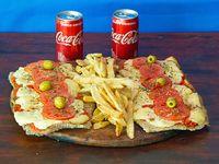 Combo - 2 Milanesas Napolitanas + Papas Rusticas + 2 Coca Cola 220 ml