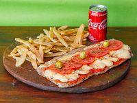 Combo - Milanesa napolitana + papas rústicas + Coca Cola 220 ml