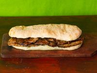 Sándwich de bondiola y pan