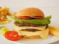 Hamburguesa doble carne doble queso