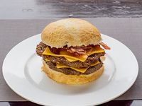 Hamburguesa gourmet doble cheesebacon