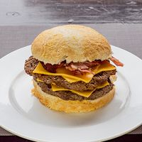 Hamburguesa gourmet doble cheesebacon