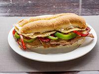 Sándwich de bondiola gourmet a la provoleta
