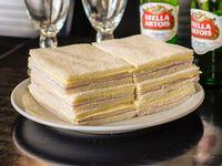 6 Sándwiches triples de jamón y queso