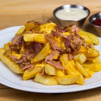 Papas fritas bacon