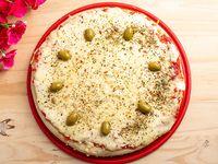 Pizza con muzzarella grande 300grs de muzzarella