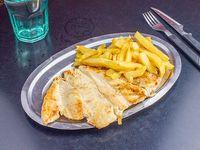 1\4 de pollo deshuesado con fritas