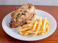 Pollo Silvi con fritas