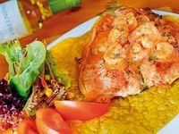 Trucha en Salsa de Camarones