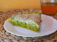 Tarta integral de brócoli y zanahoria (porción)