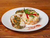 Arrollado de pollo y verdura++3 Unidades++ con Ensalada Especial