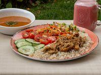 Bowl Carne Desmechada + Sopa + Jugo