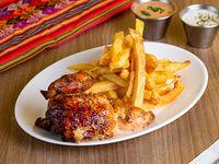 Promoción - 1/4 Pollo + Papas fritas + Cremas