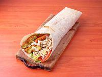 Shawarma al pan a elección con falafel 32cm