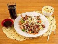 Promo 2 - Chapsui de carne con arroz chaufan + bebida 350 cc
