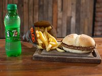 Combo - Hamburguesa simple + papas fritas + bebida 250 ml