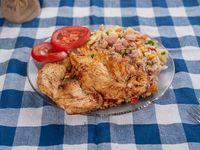 Pollo grille con acompañamiento
