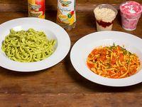 Promoción 2 - 2 Spaghettis a elección + salsa a elección + 2 postres +2  bebidas