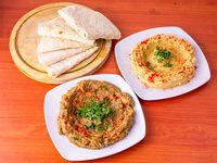 Combo 10 - Hummus 250 gr + Babaganush 250gr + Pan árabe 5 unidades