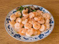 114. Camarones saltados con salsa de ostra
