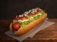 Combo - Hot dog dinámico + papas fritas medianas + bebida Pepsi 350 ml