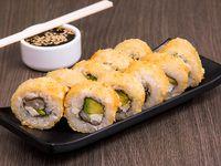 Hot roll de camarón envuelto en panko