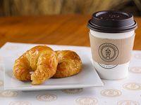Promoción desayuno - Café + 2 medialunas dulces chicas