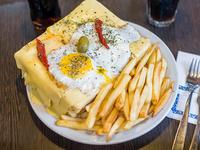 Sándwich mexicano con papas fritas (para compartir)