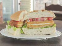 Hamburguesa Vegetariana de Calabaza y Queso al Pan