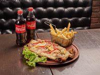 Promo - Pizzanesa especial de pollo + dos Coca Cola 500 ml